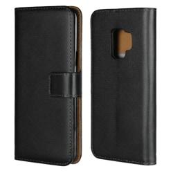 Plånboksfodral Samsung S9 äkta skinn Svart