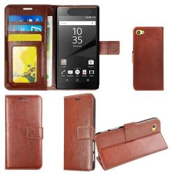 Plånboksfodral Sony Xperia Z5 Compact, 2 kort + ID Brun