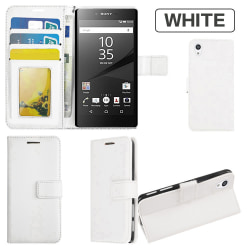 Plånboksfodral Sony Xperia Z5 Premium, 2 kort + ID Vit
