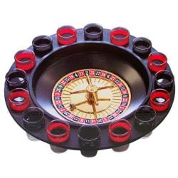 Shots Roulette med 16st Shotsglas - Spel Svart