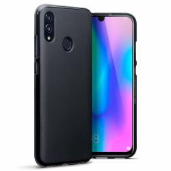Skal i gummi, Huawei P Smart 2019,  Matt Svart Svart