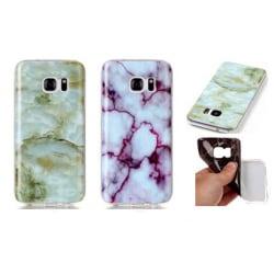 Skal i gummi, Samsung Galaxy S6 Edge, Marmor Grön