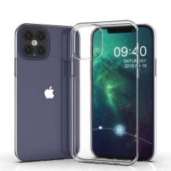 Skal iPhone 12 Pro MAX  i klart gummi Natur