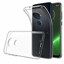 Skal Motorola Moto G7 Play i genomskinligt gummi. Transparent