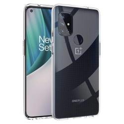 Skal OnePlus Nord N10 5G i klart gummi Transparent