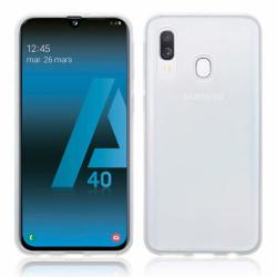 Skal Samsung A40 i genomskinligt gummi,  Transparent