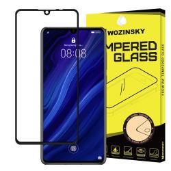 Skärmskydd Huawei P30 i härdat glas, Fullskärm Transparent