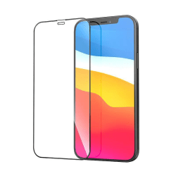 Skärmskydd iPhone 12 / 12 Pro Fullskärm i glas  Black