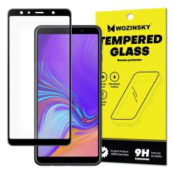 Skärmskydd Samsung A7-2018 i härdat glas Fullskärm Svart