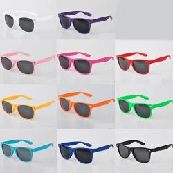 Solglasögon med Svarta glas, Wayfarer design Vit one size