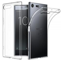 Sony Xperia XZ1 Skal i genomskinligt gummi,  Transparent