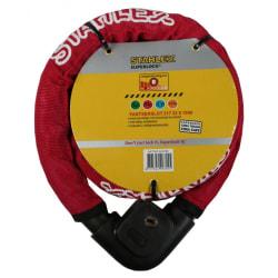 Stahlex cykellås - 22mm x 1.0m - Pansarlås Röd