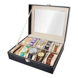 Watchbox / Klockbox för 10 klockor Svart