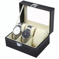 Watchbox / Klockbox för 3 klockor Svart