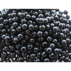Svarta akrylpärlor, 2000 stycken.  4mm i diameter