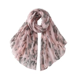 Butterfly Print Scarf Rosa
