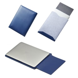 """MacBook Leather Case-13,3"""" Blå"""