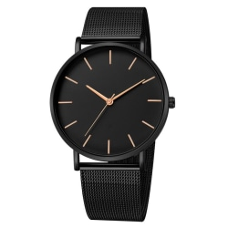 Minimalist Fashion Watch Svart