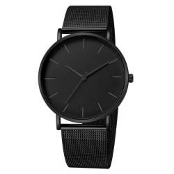 Minimalist Fashion Watch Svart