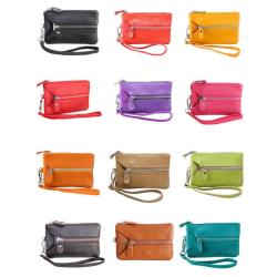 Multiplånbok till mobilen/nycklarna/kreditkorten i olika färger Brun