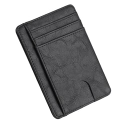 Slim RFID Blocking Wallet Svart
