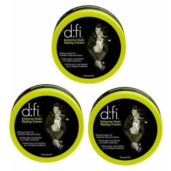 3-Pack D:fi Extreme Hold Styling Cream 150g Transparent