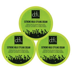 3-Pack D:fi Extreme Hold Styling Cream 75g Transparent