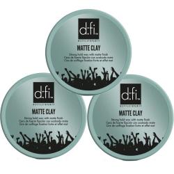 3-Pack D:fi Matte Clay 150g Transparent