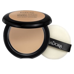 Isadora Velvet Touch Sheer Cover Compact Powder Warm Tan Transparent