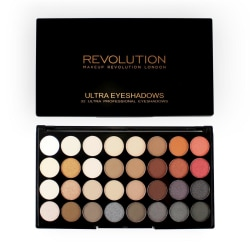 Makeup Revolution Ultra 32 Eyeshadow Palette Flawless 2 Transparent