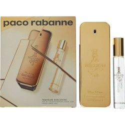 Paco Rabanne 1 Million Edt 100ml + 20ml Travel Spray  Giftset Transparent