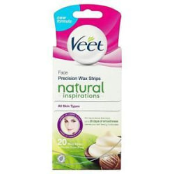 Veet Face Precision Wax Strips All skin types 20st Transparent