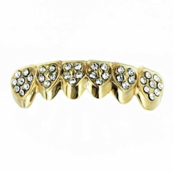 Grillz, Golden Heart Iced Out  BOTTOM Guld