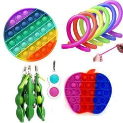 12 st. Fidget Toys Set för barn och vuxna multifärg one size