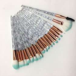 20 st.crystal handle unicorn sminkborstar