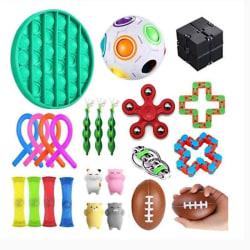 24st. Fidget Toys Set för barn och vuxna multifärg one size