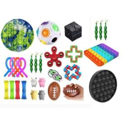 29st Fidget Pop it Toys Set pack för barn och vuxna