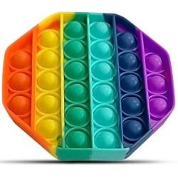 Pop It Fidget Toy Original - Octagon Rainbow - CE Godkänd multifärg one size