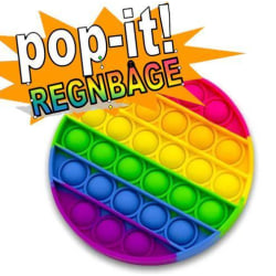 Pop It Fidget Toy Original - Regnbåge Rund - CE Godkänd multifärg one size