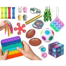 New PRO 26 st. Fidget Pop it Toys Set pack för barn och vuxna