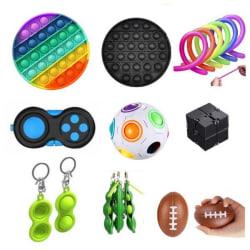 PRO set - 17 st. Fidget Toys Set för barn och vuxna multifärg one size