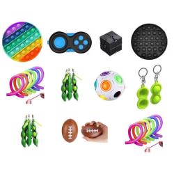PRO set - 26 st. Fidget Toys Set för barn och vuxna multifärg one size