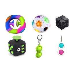 PRO set - 6 pack Fidget Toys Set för barn och vuxna NYHET multifärg one size