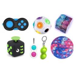 PRO set - 7 st. Fidget Toys Set för barn och vuxna NYHET multifärg one size
