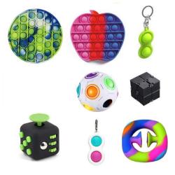 PRO set - 8 st. Fidget Toys Set för barn och vuxna NYHET multifärg one size