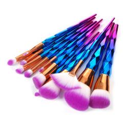 Unicorn Colorful Pro Set med 12 st. exklusiva smink / makeup bor