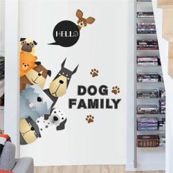 Väggdekor - Dog Family 70 x 88 cm.