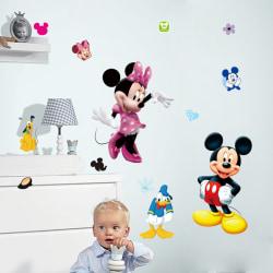 Väggdekor - Mickey Mouse 106 x 79 cm Vit one size