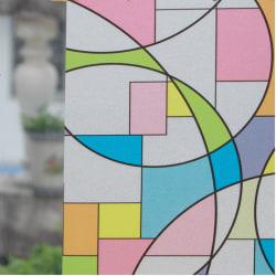 Cirklar glasmosaik insynsskydd Statisk fönsterfilm 3 meter