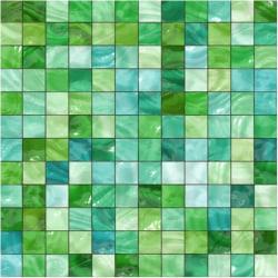 Grön glasmosaik Kakeldekor 15x15 cm blank 12-pack